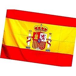 Bandera de España Grande 140X90 CM. ENVÍO RÁPIDO DESDE ESPAÑA. Bandera de gran tamaño, para colgar en el balcón, llevar por la calle o apoyar a la selección española de fútbol