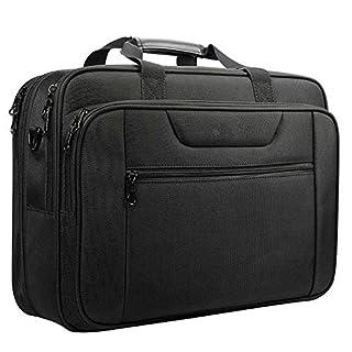 WYFDM Laptop-Tasche Passt Bis Zu 16 Zoll Laptop Aktentasche Wasserabweisend Erweiterbar Computer Tasche Business Messenger Bag Umhängetasche Für Schule/Reise/Frauen/Männer