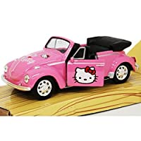 Hello Kitty Volkswagen Kids Buggy Die Cast Convitable -pull back & go action by Welly