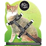 The Pets Company Body Harness Set for Cats, Harness and Adjustable Nylon Leash, Black