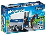 Playmobil 6922 Polizistin Pferd mit Trailer, mehrfarbig
