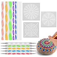 Mandala Dotting Tools, BASEIN Mandala Dotting Tools Con Stencil Brush Set Rock Pintura Pluma Para Pintar Rocas Patrón de Arte En Relieve Patrón