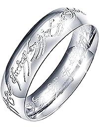 Anillo El señor de los anillos con texto interno e externo, colores y tamaños a elegir, idea regalo para hombre y mujer