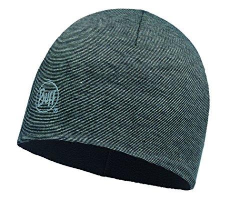 Buff Microfiber und Polar Hat Mütze, Grey Stripes, One Size Reversible Stripe Beanie