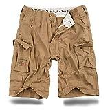 Trooper Shorts Lightning Edition Beige gewaschen - 5XL