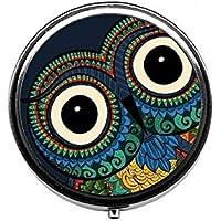 LinJxLee owl Big Eyes Portable Round Pill Case Pill Box Medicine Box Medicine Tablet Vitamin Organizer for Purse... preisvergleich bei billige-tabletten.eu