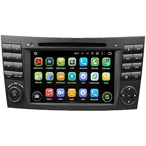 7 Zoll Doppel Din Android 5.1.1 Lollipop OS Autoradio für Benz W219(2004 2005 2006 2007 2008)(CLS350 CLS500 CLS550), kapazitiver Touchscreen mit Quad Core 1.6G Cortex A9 CPU 16G Flash und 1G DDR3 RAM GPS Navi Radio DVD Player 3G/WIFI Aux Input OBD2 USB/SD