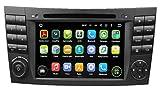 7 Zoll 2 Din Android 5.1.1 Lollipop OS Autoradio für Benz W211(2002 2003 2004 2005 2006 2007 2008)(E200 E220 E240 E270 E280), kapazitiver Touchscreen mit Quad Core 1.6G Cortex A9 CPU 16G Flash und 1G DDR3 RAM GPS Navi Radio DVD Player 3G/WIFI Aux Input OBD2 USB/SD DVR