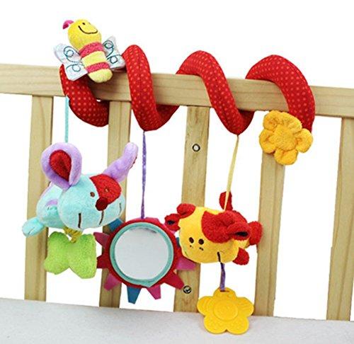 Lomire Multi-estilo Suave 0-12 Meses Bebé de Juguete Cama Espiral y Asiento del Cochecito del Coche Colgando bebes Educativo Sonajero Toys para Regalos Recién Nacidos
