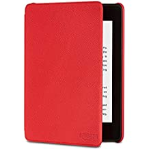All-New Kindle Paperwhite Leather Amazon Cover (10th Gen), Red
