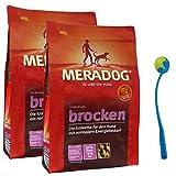 MERA Dog 2 x 12,5 kg Brocken Premium Hundefutter Kroketten Hunde + Ballschleuder
