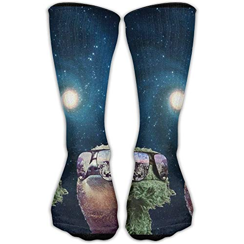 Jxrodekz Unisex Stockings Funny Sloth with Sunglasses Casual Crew Sports Socks