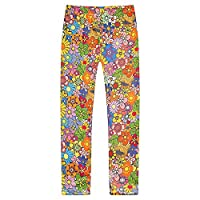 Richie House Girls' Patterned Stretchy Legging Pants RH0704-M-6/7
