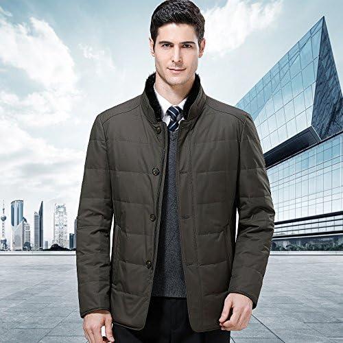 ZHUDJ l'Uomo in Lunghe Uomo di Spessore Down Jacket,Kaki,185 Jacket,Kaki,185 Jacket,Kaki,185 Xxl | Colore Brillantezza  | Forte calore e resistenza al calore  06cc52