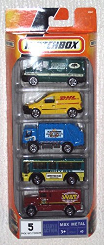 matchbox-5-vehicles-ready-for-action-dhl-wat-city-bus-shady-branch-matchbox-valley-disposal-by-match