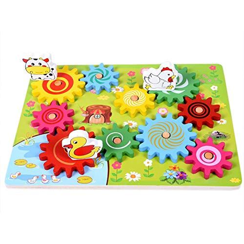 Holz Stichsägen Kinderspielzeug Getriebe Spiel Tier Muster Kombination Drehen Spaß Puzzle Spielzeug Geschenk -