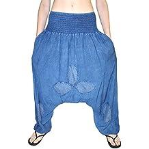 Jygles Damen Pumphose Jeans Denim-Look GOA Hose yoga -alternative Bekleidung Original