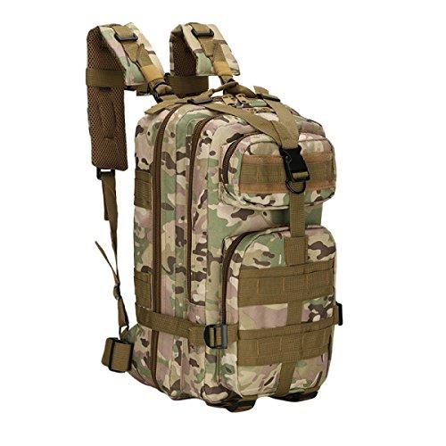 Oxford 30L Im Freien Bergsteigen Tasche Wasserdichte Tarnung Rucksack,PythonBlack CPCamouflage