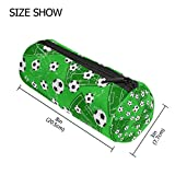 tizorax Fußball Tor und Fußball Sport Boden Federmäppchen Pen Tasche mit Reißverschluss Münze Organizer Make-up costmetic Tasche für Frauen Mädchen Jungen Teenager Kinder