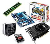 One PC Aufrüstkit | AMD FX-Series Bulldozer FX-8350, 8x 4.00GHz | montiertes Aufrüstset | Mainboard: Gigabyte GA-78LMT-USB3 | 4 GB RAM (1 x 4096 MB DDR3 Speicher 1600 MHz) | CPU Mainboard Bundle | Grafik: 2 GB NVIDIA GeForce GTX 1050 (HDMI, DVI, DP) | komplett fertig montiert!