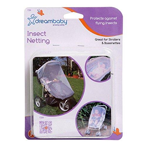 Weißer Tee Regen (Dreambaby F204 Kinderwagen/Laufstall & Kinderbett Insektennetz, weiß)