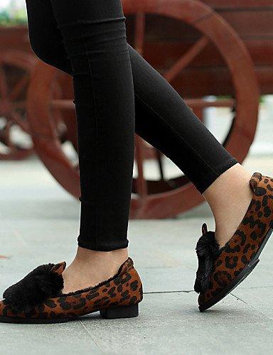 ZQ Scarpe Donna - Sneakers alla moda - Casual - A punta - Basso - Finta pelle - Nero / Grigio / Animal , gray-us8 / eu39 / uk6 / cn39 , gray-us8 / eu39 / uk6 / cn39 leopard-us5.5 / eu36 / uk3.5 / cn35