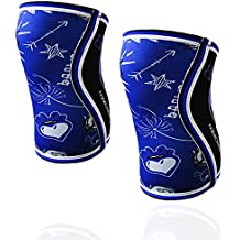 BANBROKEN BLUE DRAW Rodilleras (2 unds) - 5mm Knee Sleeves - Halterofilia, deporte funcional, CrossFit, Levantamiento de Pesas, Running y otros deportes. UNISEX. (XL)