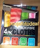 #2: Microfibre Cleaning Cloths for Car Bike Office Home Kitchen Auto - 4 Pcs by shopee