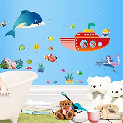 Kleine Aufkleber Marine Fish Kreative Schlafzimmer Dekoration Kindergarten Klassenzimmer Thema Aufkleber Standardcode Abschnitt A6 (Klassenzimmer Dekoration Thema)