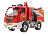 Revell Junior Kit Feuerwehr Auto Modellbausatz für Kinder zum Schrauben, robust zum Basteln und Spielen, ab 4 Jahren, kindgerecht, müheloses Verbinden weniger Teile, mit Aufklebern - FIRE TRUCK 00804