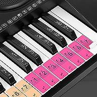 Lixad- ملصقات مفاتيح بيانو للمبتدئين 88/61/54 مفاتيح بيانو
