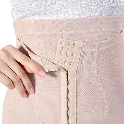 Rabbiter Damen Shapewear Figurformender,Spitze Atmungsaktiv Formende Bodys, Elegant Hohe Taille Taillenformer angenehm Shaping Bodysuit mit Haken - 8
