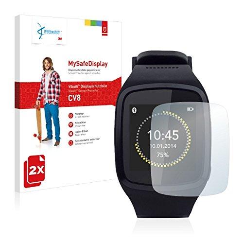 2x Vikuiti MySafeBildschirm CV8 Bildschirmschutz Schutzfolie für Mykronoz ZeSplash (Ultraklar, strak haftend, versiegelt Kratzer)