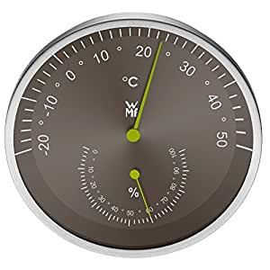 WMF Raumthermometer mit Hygrometer Scala Cromargan Edelstahl rostfrei 18/10 spülmaschinengeeignet