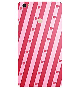 Chiraiyaa Designer Printed Premium Back Cover Case for Xiaomi Mi Max (pattern heart boy girl friend valentine miss kiss pink stripe) (Multicolor)