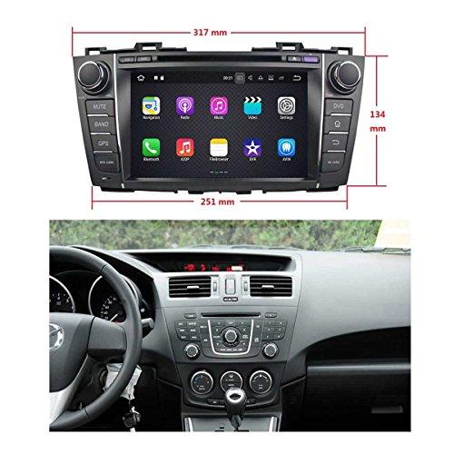 8 Zoll 2 Din Android 7.1 OS Autoradio für Mazda 5/Mazda Premacy 2009 2010 2011 2012 2013 2014 2015, kapazitiver Touchscreen mit Quad Core 1.6G Cortex A9 CPU 16G Flash und 2G DDR3 RAM GPS Navi Radio DVD Player 3G/WIFI Aux Input OBD2 USB/SD DVR (Mazda 3 2010-auto-radio)