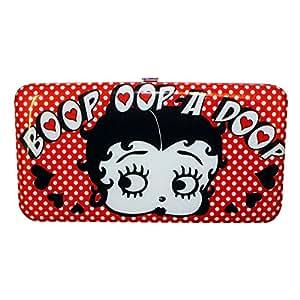 Portefeuille Porte-cartes Portemonnaie Femme motif Betty Boop Rouge Long Pois 105982