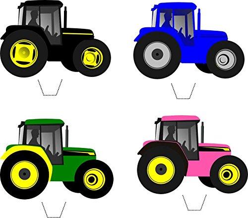 12 x Neuheit Traktor Mix Essbare Standup Wafer Papier -Kuchen-Deckel (Traktor-geburtstag-kuchen-deckel)