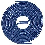 LACCICO Finest Waxed Laces Durchmesser 2 mm Runde Dünne Elegante Gewachste Schnürsenkel Farbe: Blau Länge: 75 cm