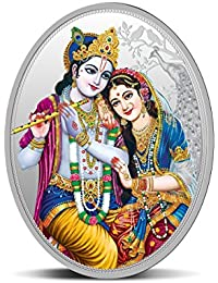 MMTC-PAMP India Pvt. Ltd. Krishna Series 999.9 purity 31.10 Gm Silver Oval Coin