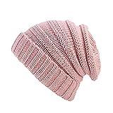 TEBAISE Damen und Herren Warme Feinstrick Beanie Mütze mit Flecht Muster und Sehr Weichem Fleece Innenfutter Unisex