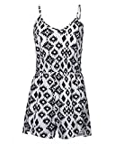 ZANZEA Women's Sexy Casual Summer Floral Print Sleeveless Strap Party Beach Shorts Jumpsuit 2XL
