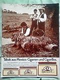 70er Jahre : BRANIFF TABAK AUS MEXICO/UN TABACO... - alte Werbung /Originalwerbung/ Printwerbung /Anzeige /Anzeigenwerbung GROSSFORMAT 21 x 27 cm
