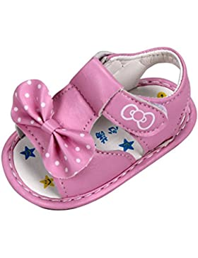 Malloom Niña Nueva Bowknot Niñas Sandalias con Suela Blanda Impreso Zapatos de Bebe