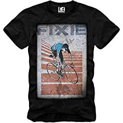 E1SYNDICATE T-SHIRT VINTAGE FIXED GEAR FIXIE DISOBEY BLOGGER HIPSTER SUPREME NEGRO S-XL