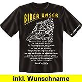 Biker Triker Shirt - BIKER UNSER - US-Shirt für echte Kerle mit Wunschnamen