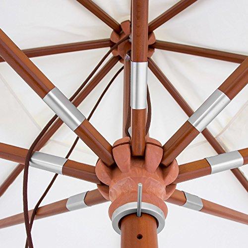 anndora® Sonnenschirm Gartenschirm Marktschirm mit Winddach Größenwahl – gestreift 7 Farben
