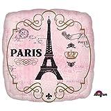 Amscam Folienballon * Paris * für Mottoparty Oder als Geschenk // Frankreich Eiffelturm Helium Ballon Geburtstag Deko Dekoration