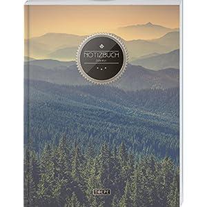 """TULPE Blanko Notizbuch A4 """"C038 Wälder"""" (140+ Seiten, Vintage Softcover, Seitenzahlen, Register, Weißes Papier - Dickes Notizheft, Skizzenbuch, Zeichenbuch, Blankobuch, Sketchbook)"""