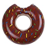 Anneau de natation,Bouée Géant Gonflable pour Les Adultes et Adolescents d'été eau Jouet, Bouee Gigantesque Donut pour la piscine, la plage ou la piscine découverte (120cm) (marron)